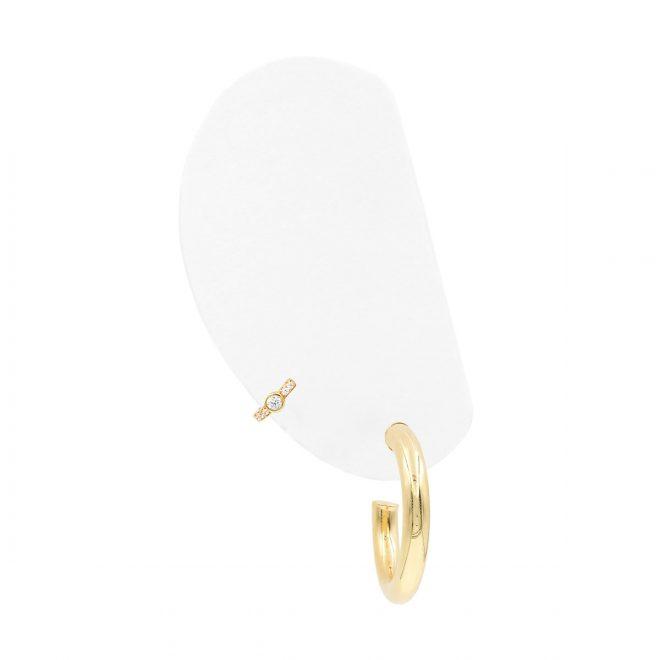 Modelo Aros Dorados Baño de Oro