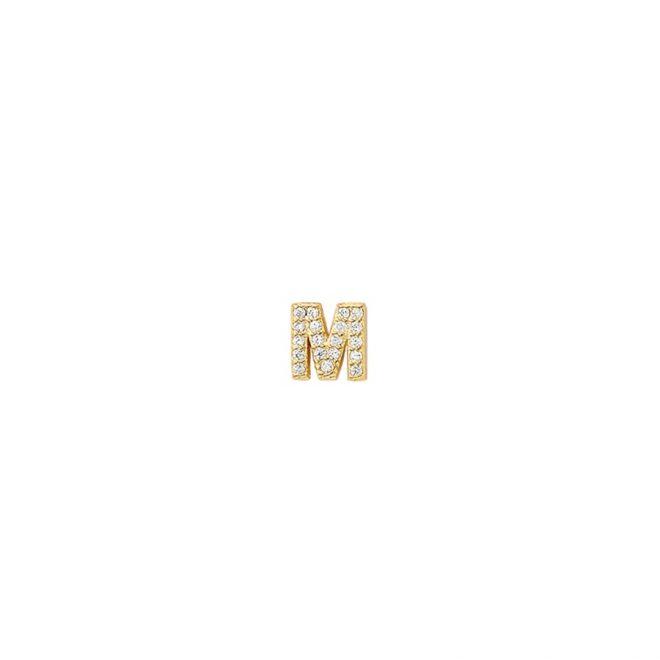 comprar pendiente mini letra inicial con circonita