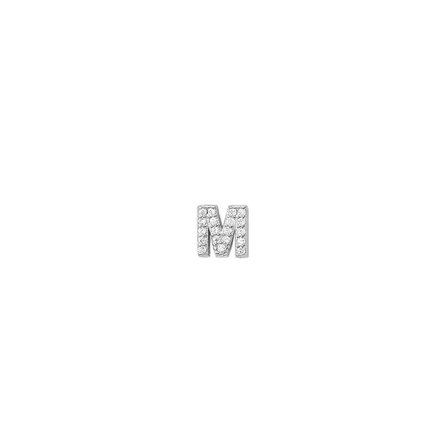 comprar pendiente mini letra inicial de plata con brillantes