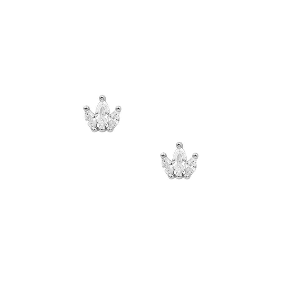comprar pendientes de piedras en forma de corona