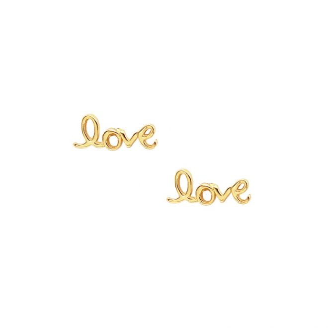 comprar pendientes love oro