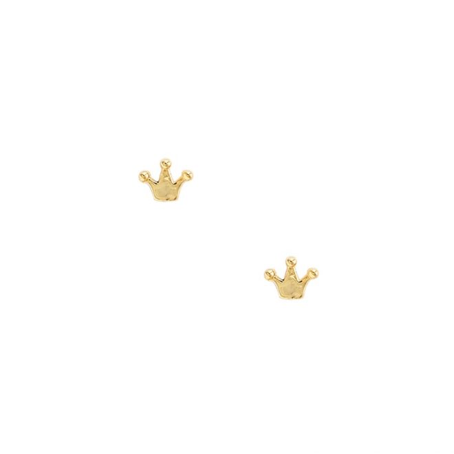 comprar pendientes mini queen oro