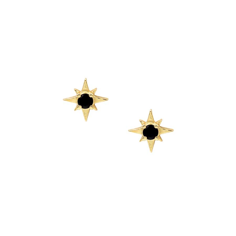 comprar pendientes estrella nova con piedra negra