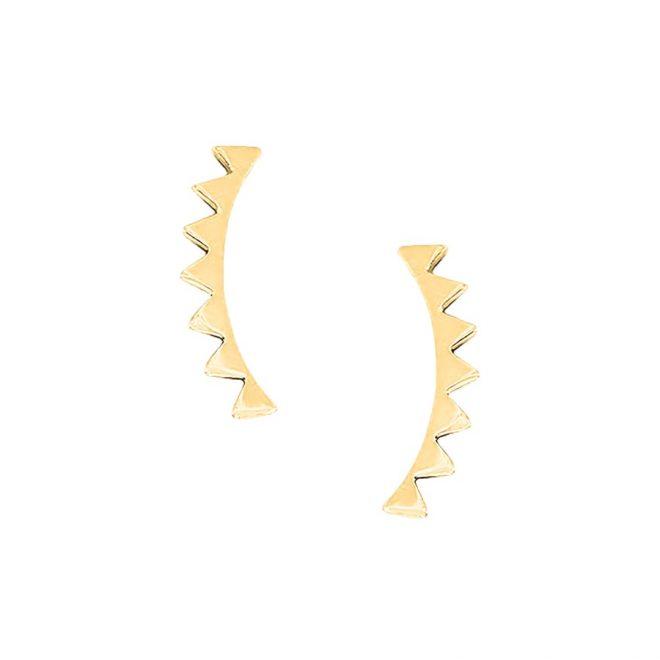 pendientes trepadores triangulos oro
