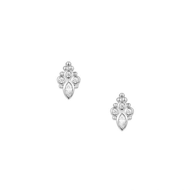 comprar pendientes de plata con piedras de distintos tamaños