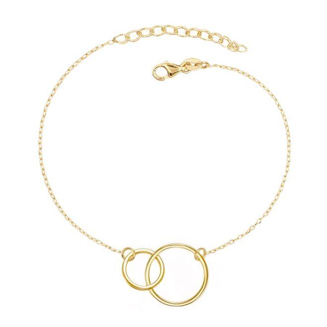 comprar pulsera círculos oro