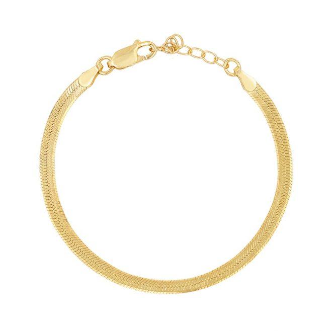 comprar pulsera lisa oro