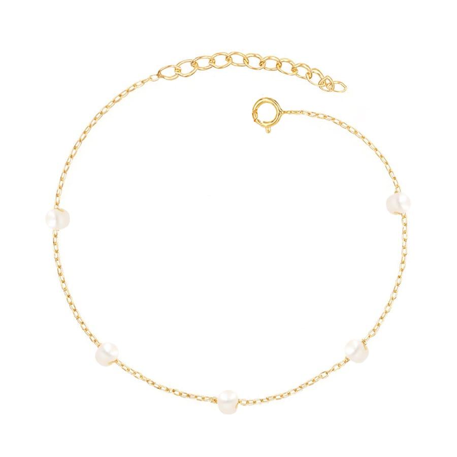 comprar pulsera perlas oro