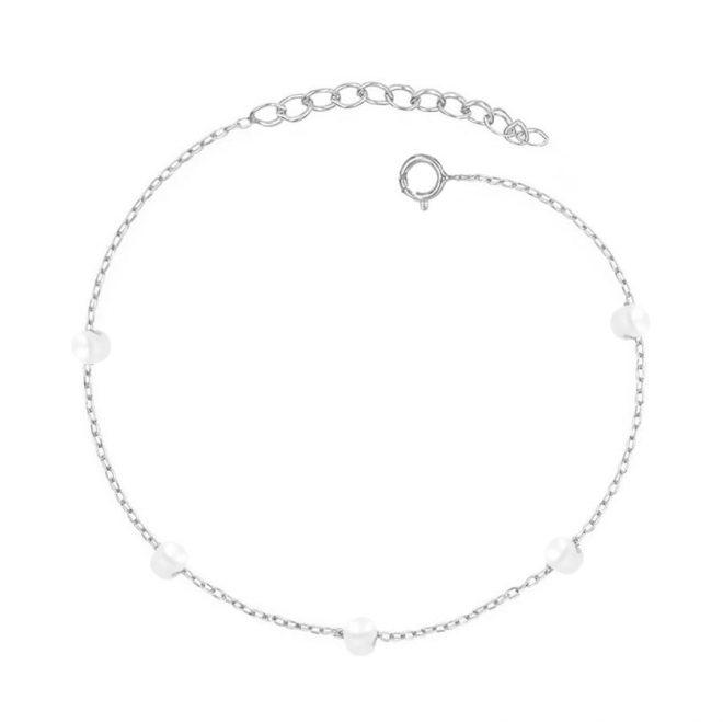 comprar pulsera perlas plata