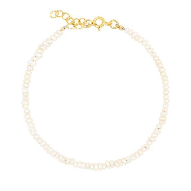 comprar pulsera perlitas oro