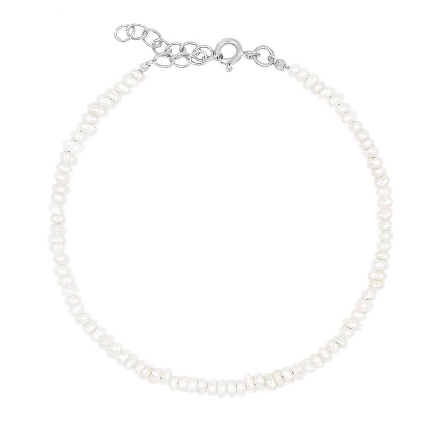 comprar pulsera perlitas plata
