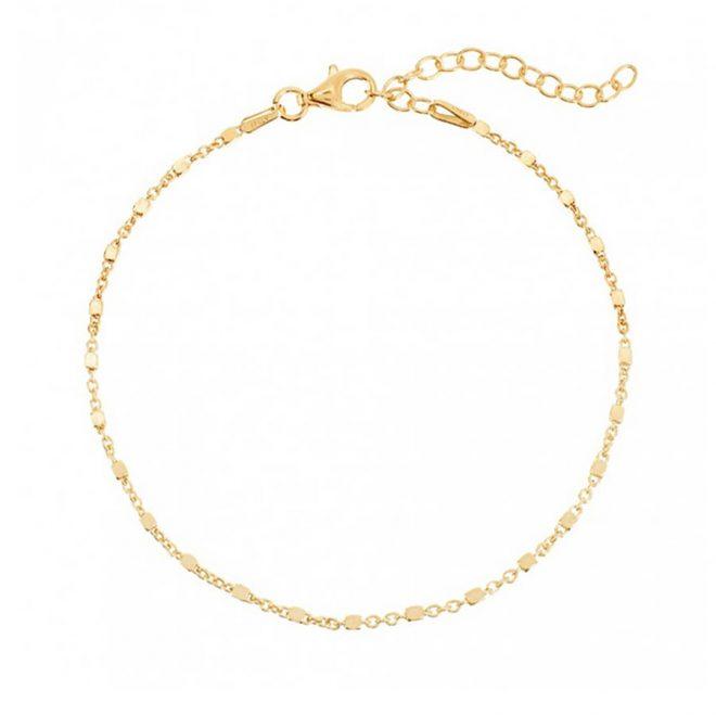 Tobillera plata dorada estilo atemporal para verano