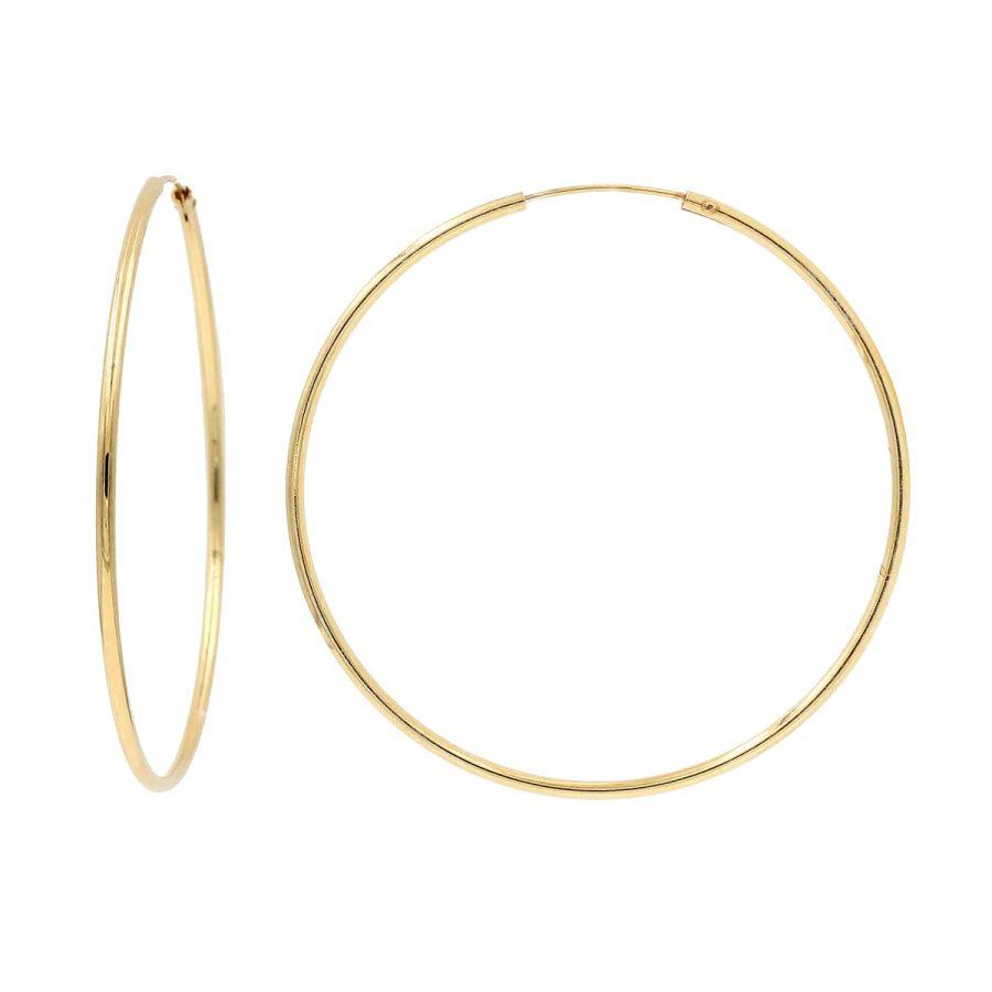 Aros finos de oro de diámetro 50mm