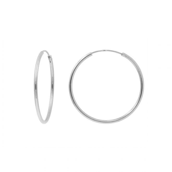 Aros finos de plata de diámetro 30mm