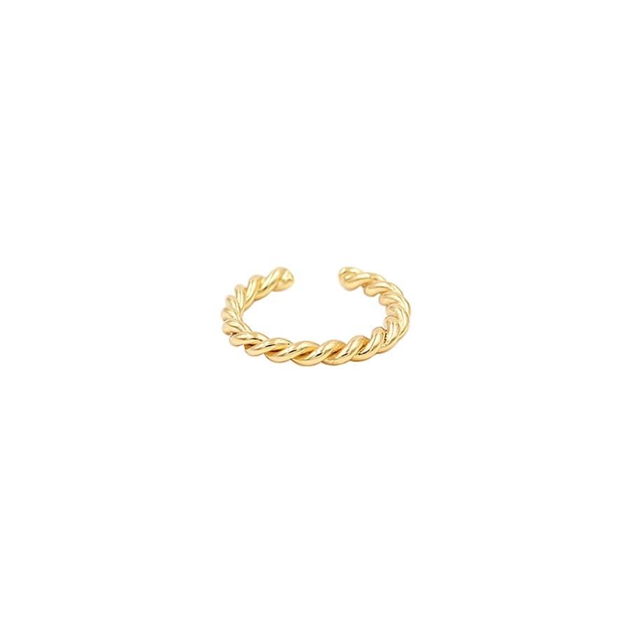 comprar pendiente orbital twist bañado en oro