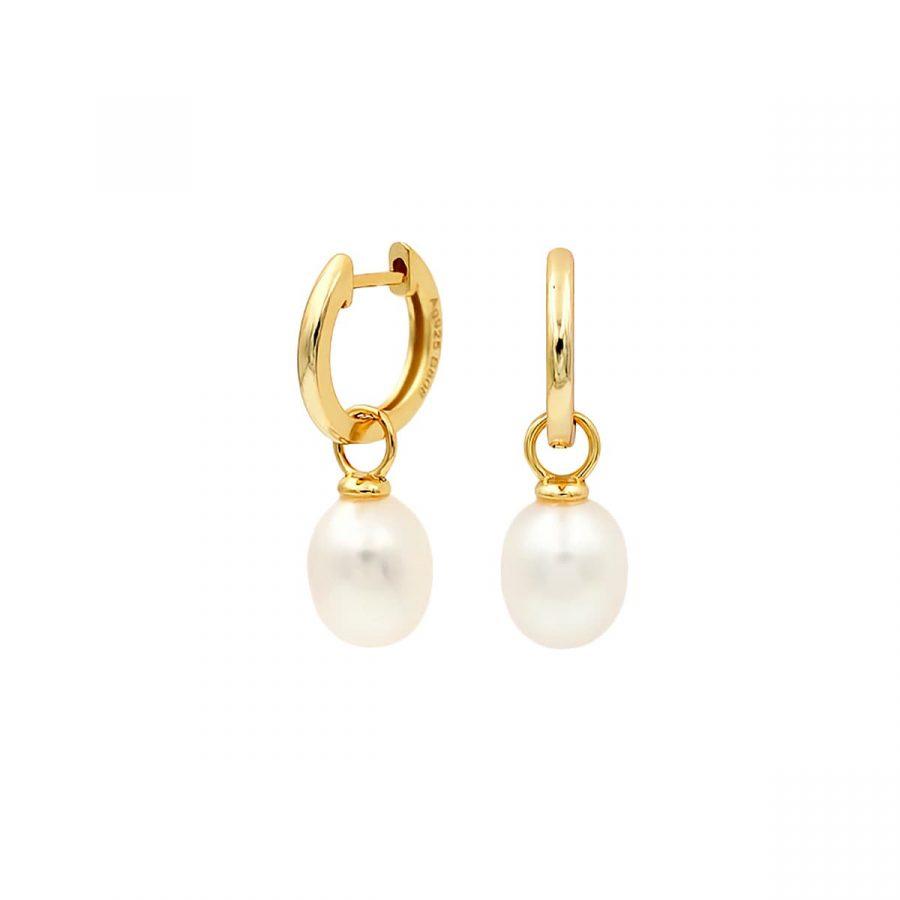comprar pendientes de oro con perla