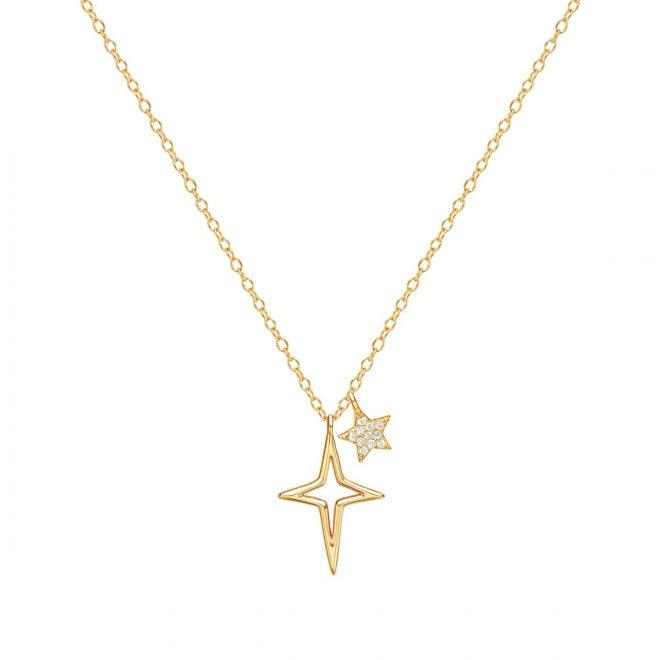 Collar Shine con Colgante de dos Estrellas