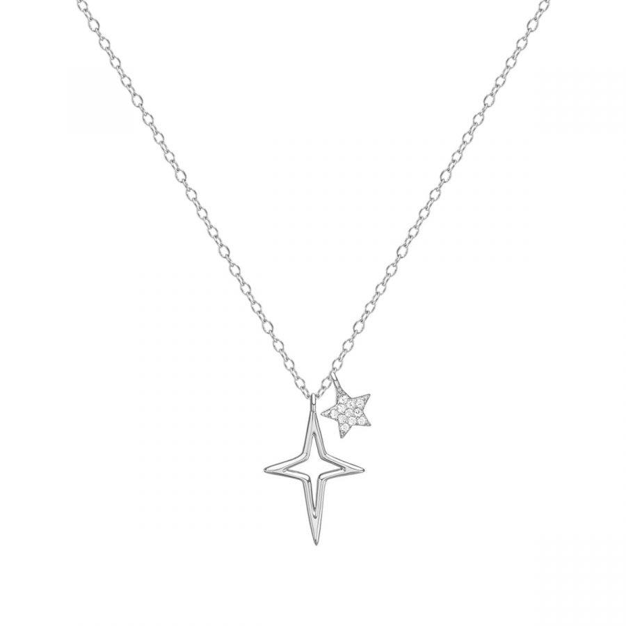 Colgante Shine en Plata con dos Estrellas