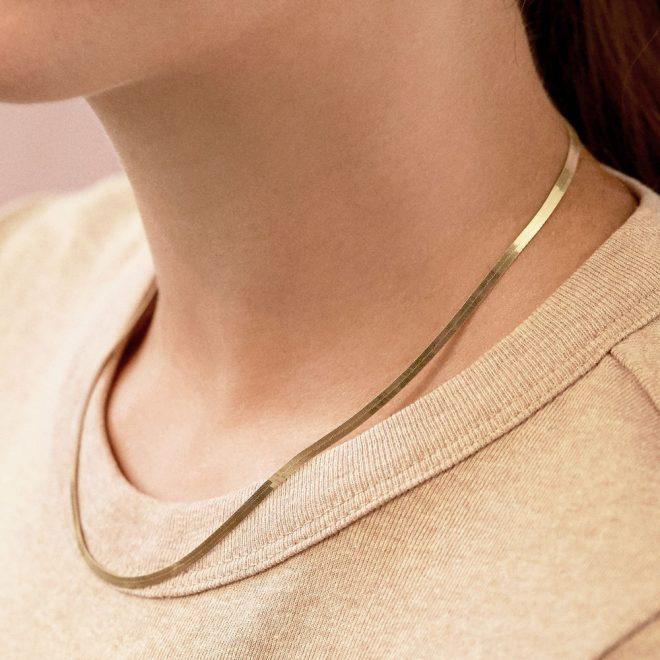 collar liso fino 3mm oro