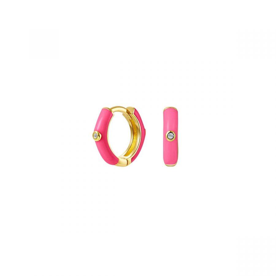 Aros rosa fucsia