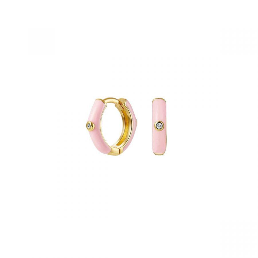 Aros rosa suave