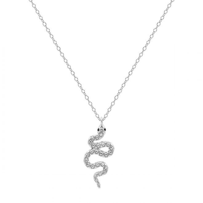 Colgante serpiente de plata