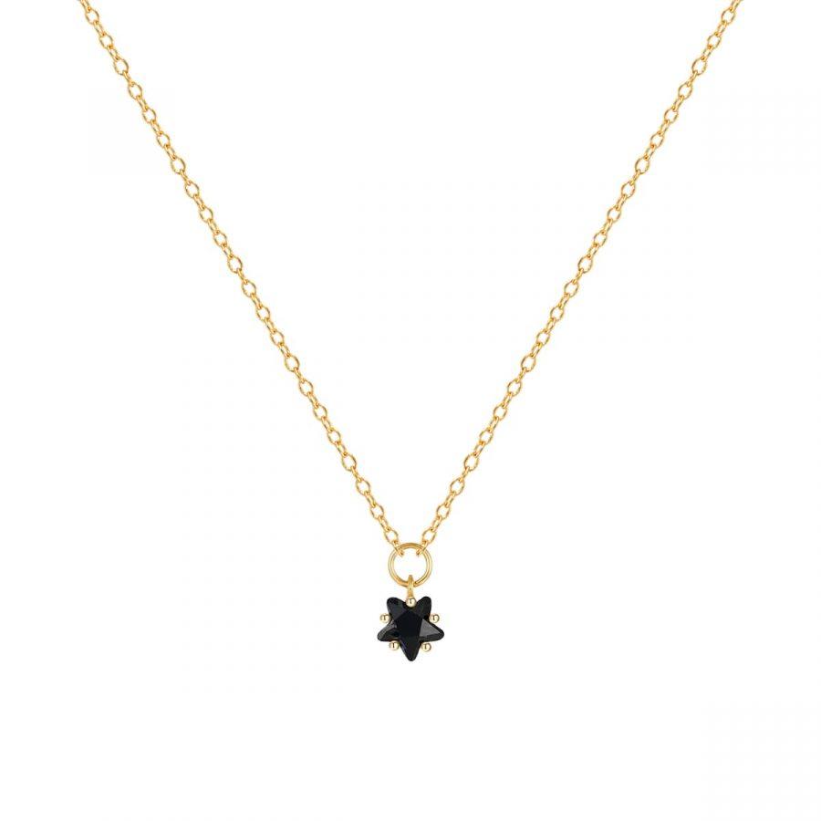 Colgante estrella negra