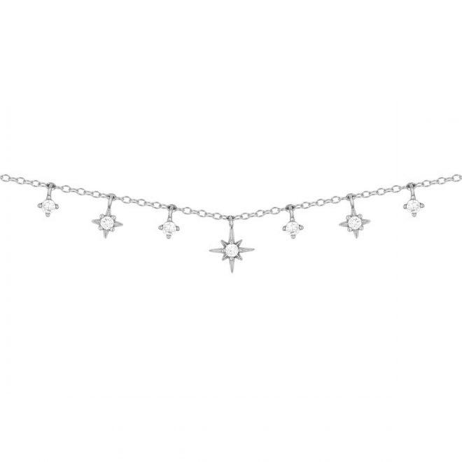 Collar Maia con estrellas en plata