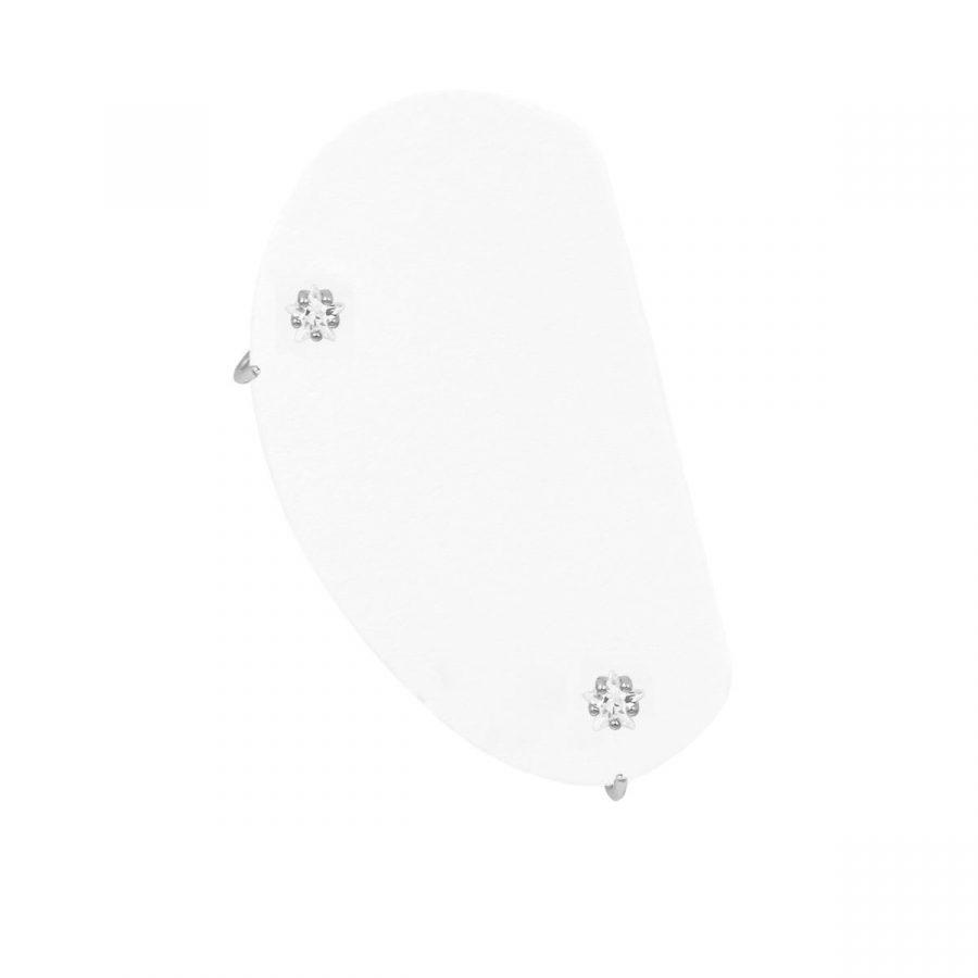 Aros abiertos para piercings en plata