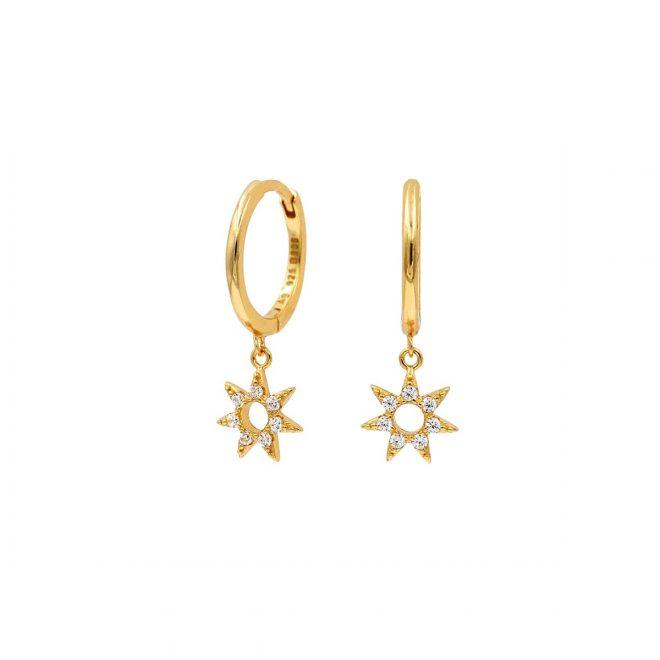 Aros con estrella de siete puntas