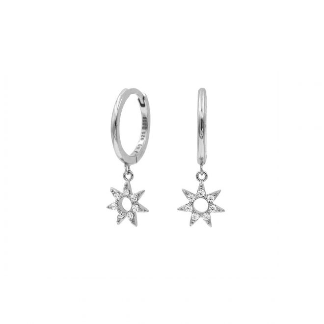 Aros de plata con sol