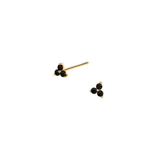 Pendientes negros mini sueltos