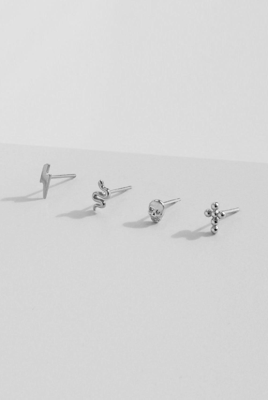 Pendientes Mini en Plata de Ley