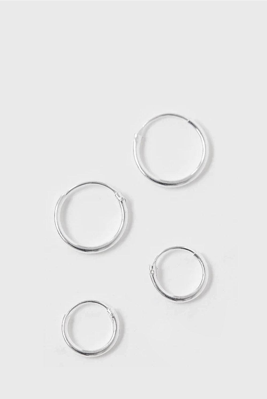 Aros de plata de 12mm y 10mm