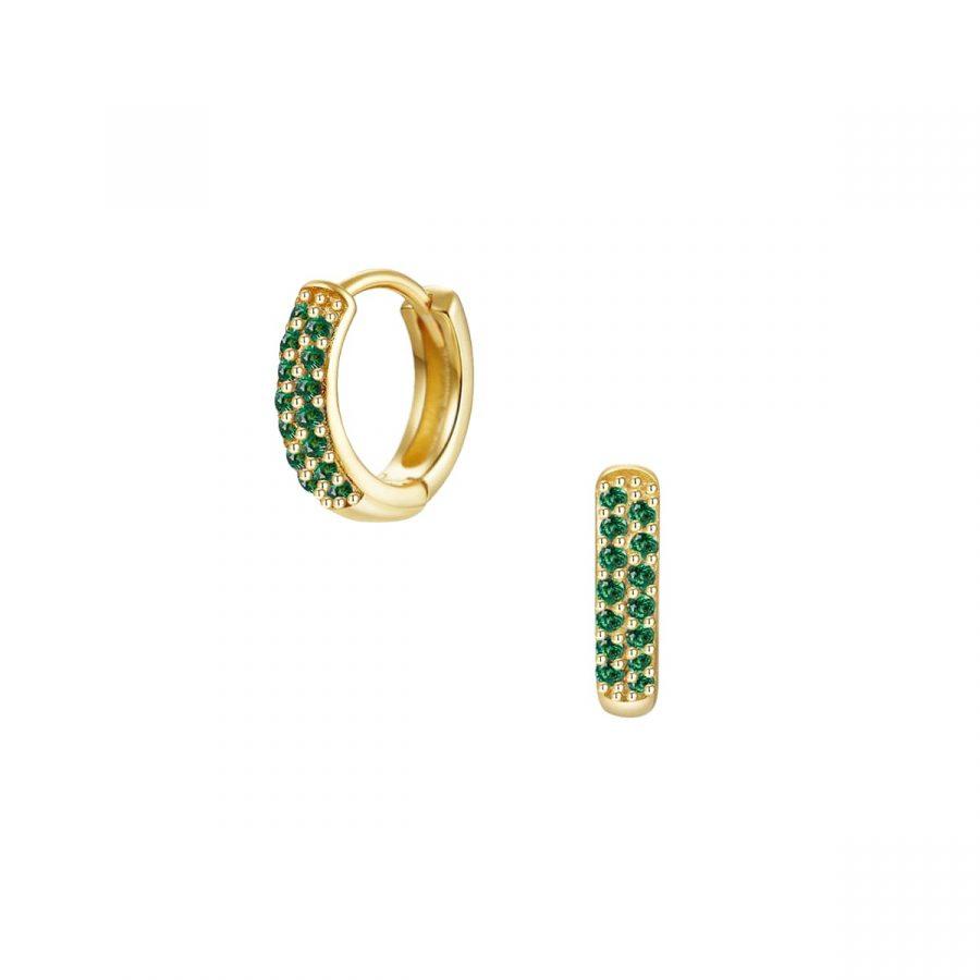 Aros con circonitas verdes
