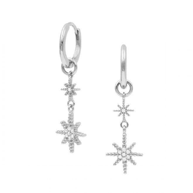 Aritos de plata con estrellas