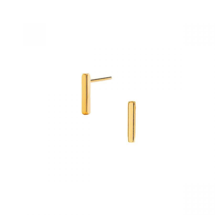 pendientes en forma de barra o palito en baño de oro