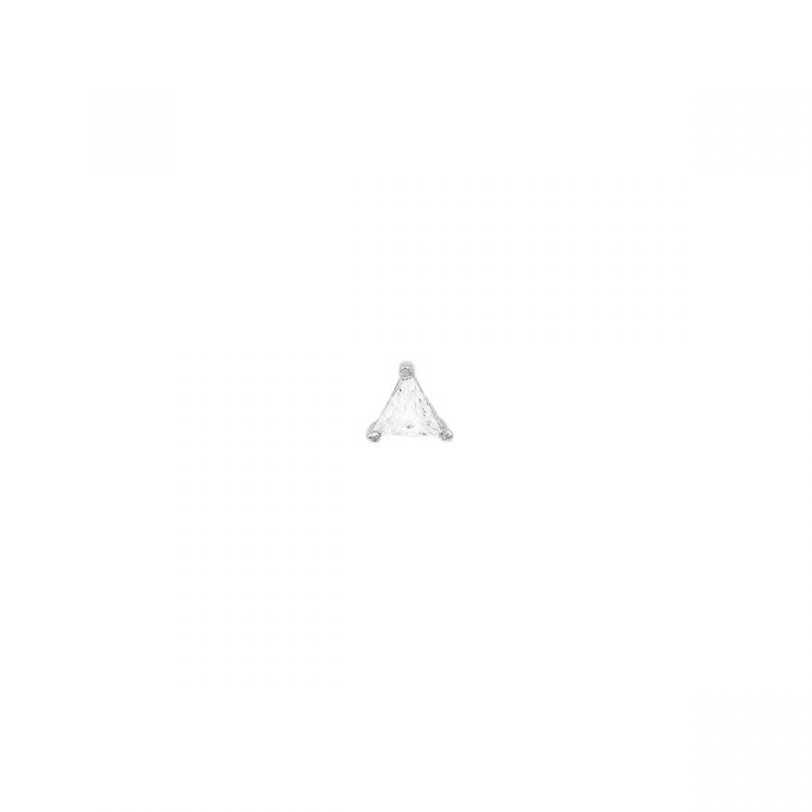 Piercing de plata con circonita triangular