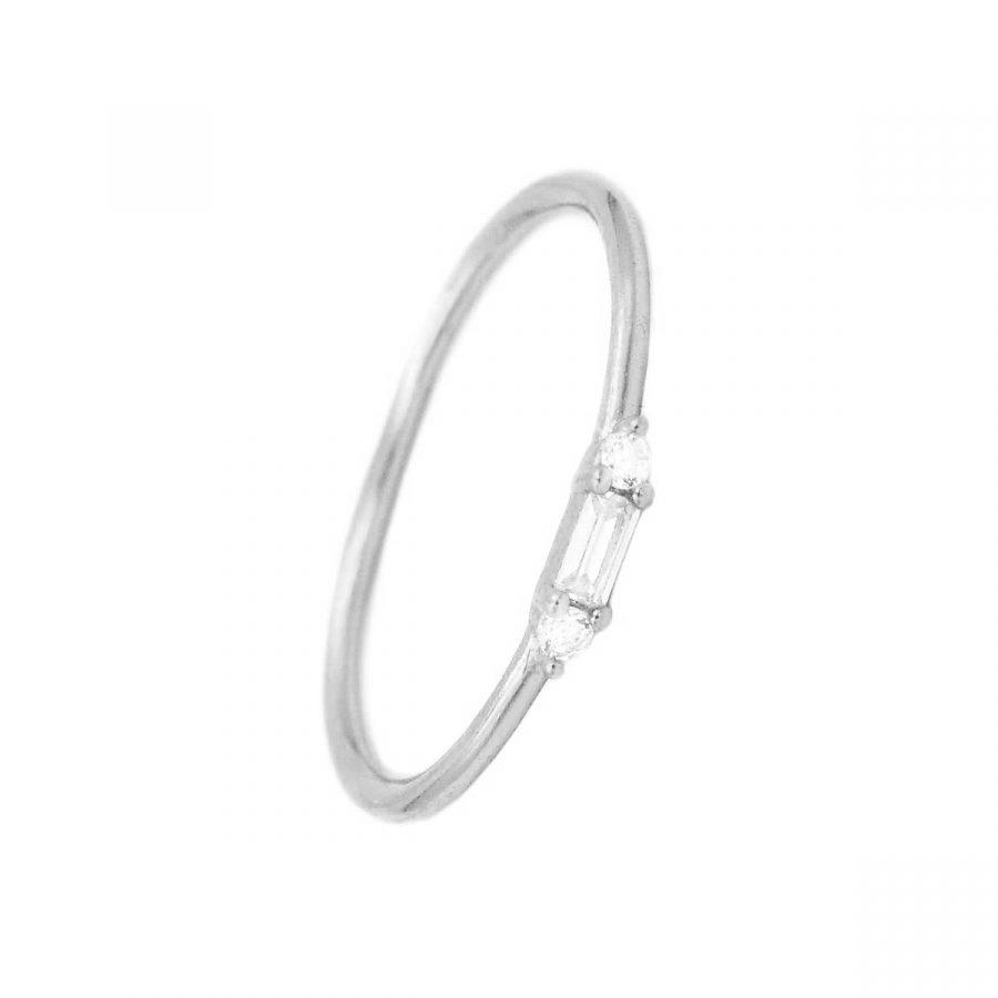 Anillo minimalista petit de plata