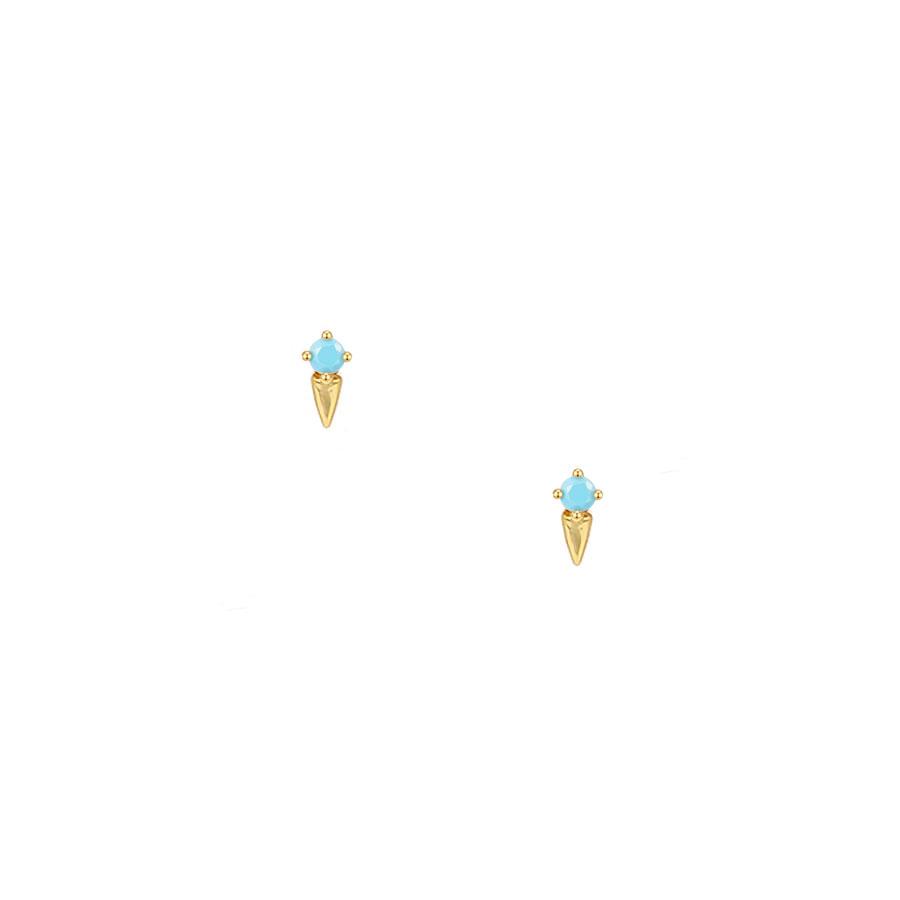 Pendientes pequeños azules