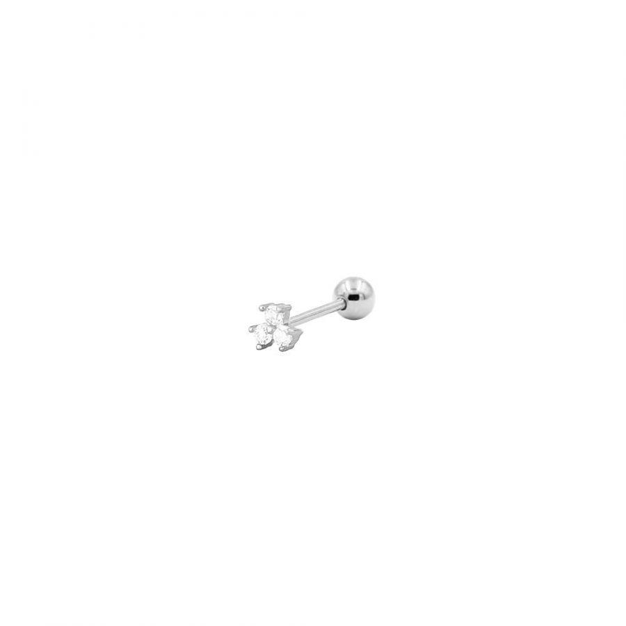piercing de plata clover