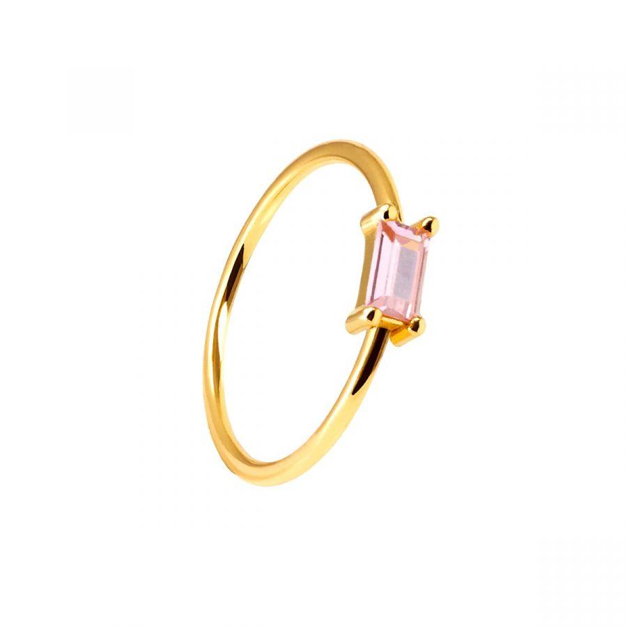 anillo cristal rosa