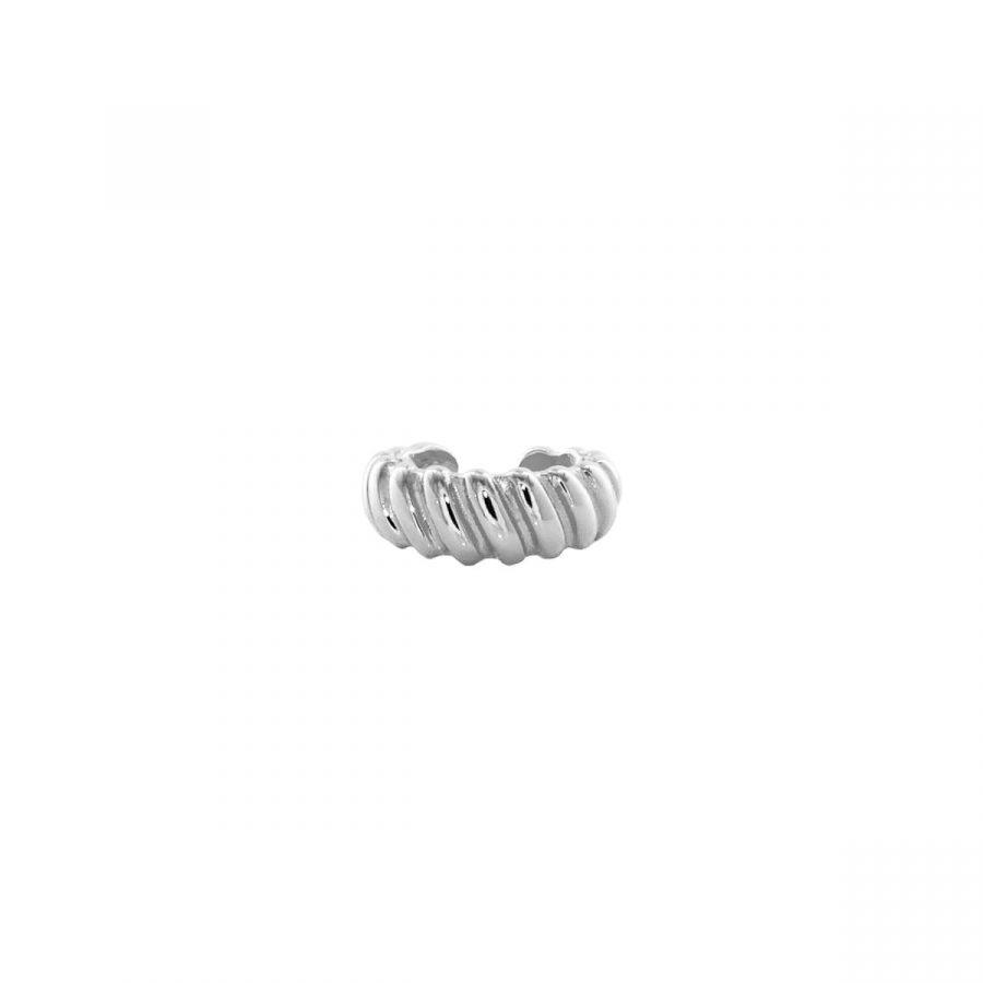 cartílago trenzado estilo croissant en plata de ley