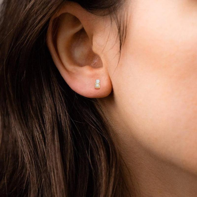 pendientes mini perla