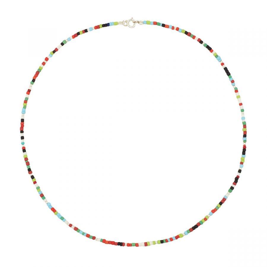 collar bolas colores