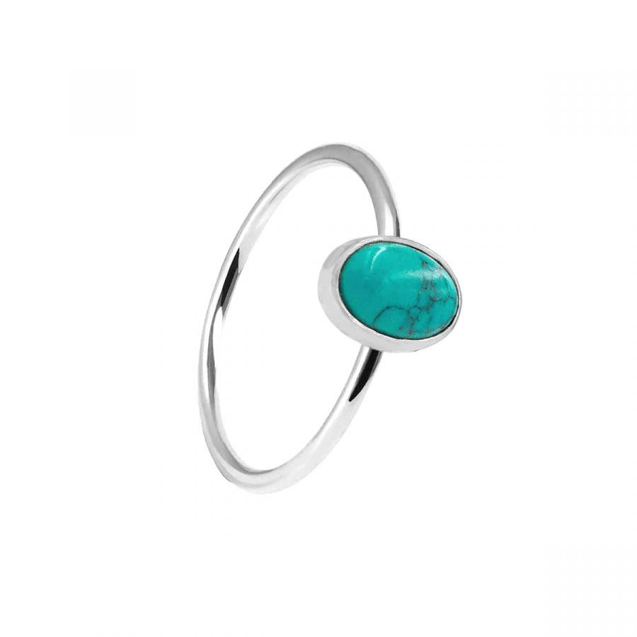 anillo piedra turquesa