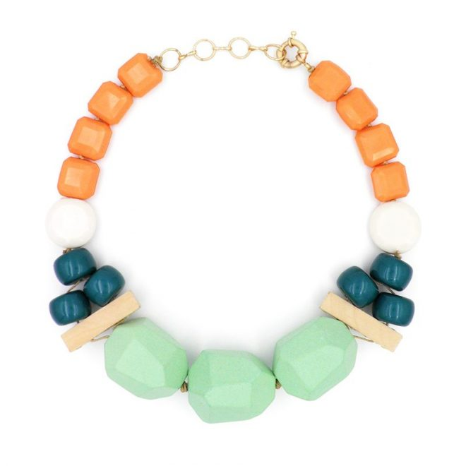 Collar coral mint