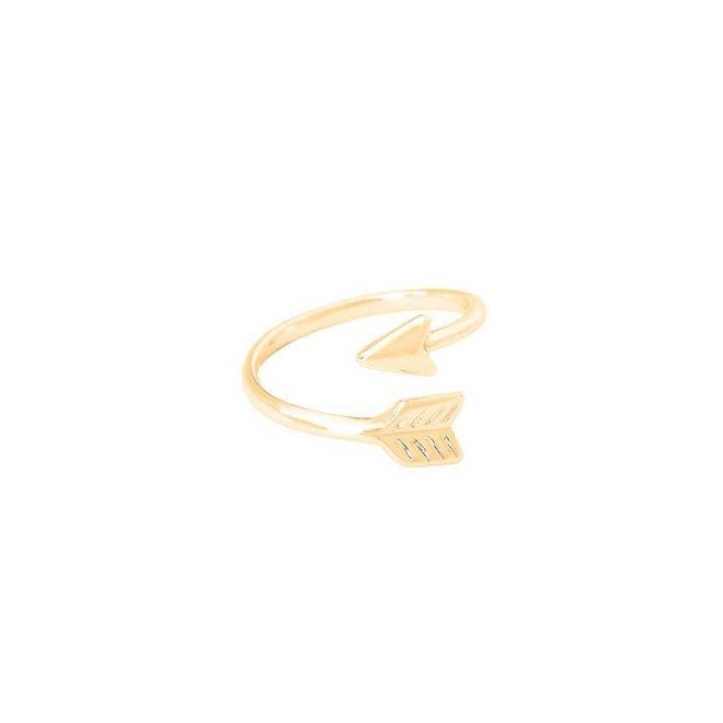 comprar anillo flecha dorado
