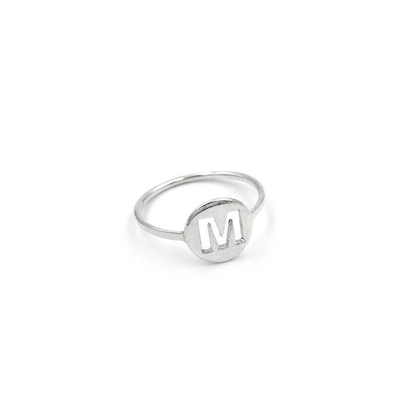 anillo inicial plata