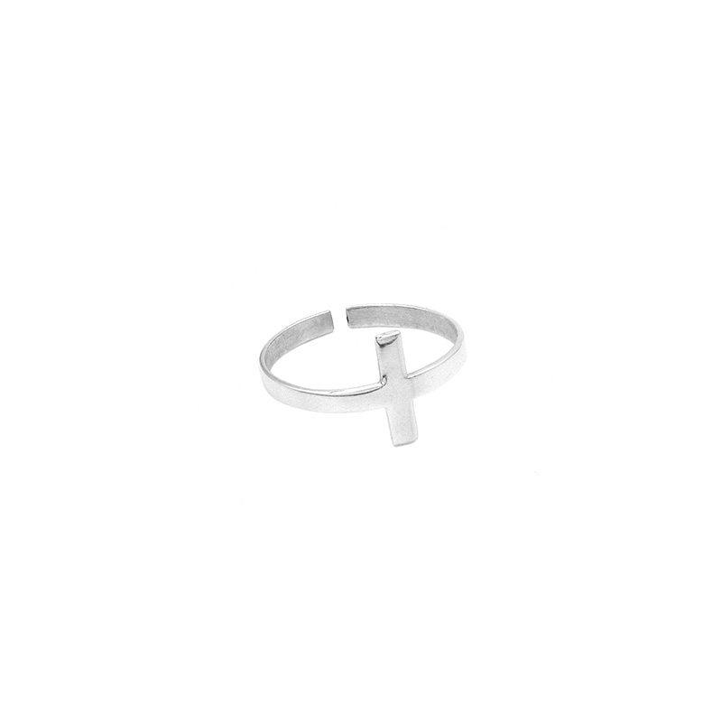 anillo midi cruz